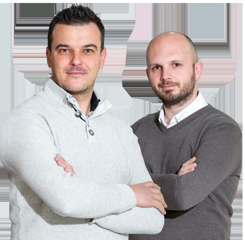 Pedro Fernandez (CEO WELAB) y Raúl Prior (Director Comercial Welab)